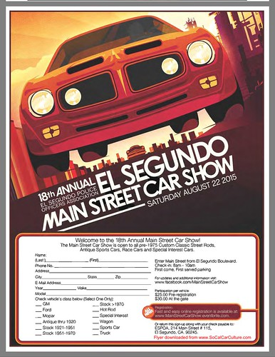 "EL SEGUNDO CA USA - ""18th Annual El Segundo Main Street Car Show"" August 22 Saturday - 10am -   All pre-1975 welcome - credit: www.SoCalCarCulture.com • <a style=""font-size:0.8em;"" href=""http://www.flickr.com/photos/134158884@N03/20536054418/"" target=""_blank"">View on Flickr</a>"