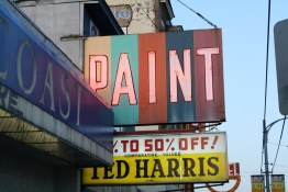 Ted Harris Neon Sign