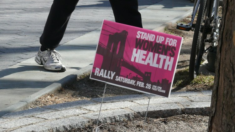 Stand up for women's health, planned parenthood
