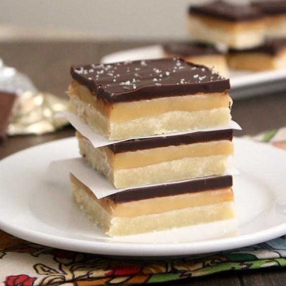 Salted Caramel Chocolate Shortbread Bars