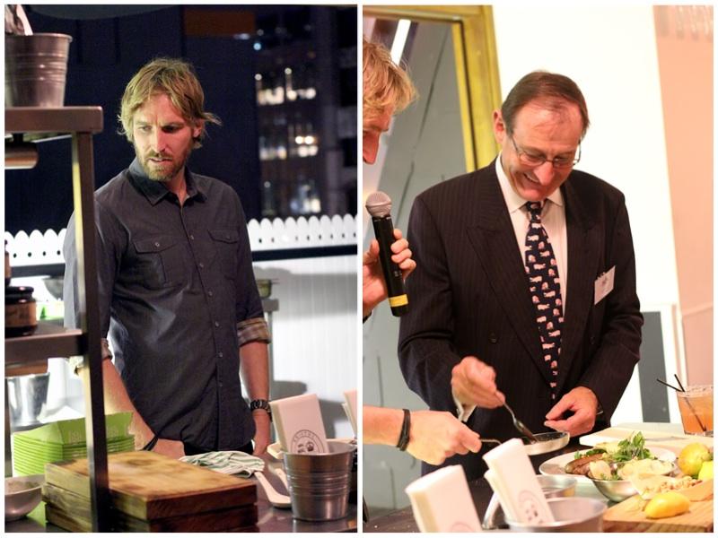 From left: Chef Darren Robertson from Three Blue Ducks, David Beak from Beak and Sons