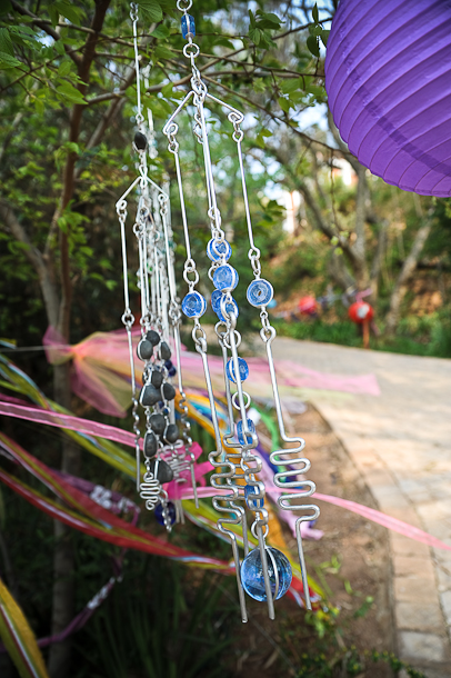 ribbon, suncatchers and lanterns