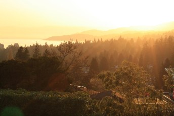 Sunset from Sentinel Hill, West Van