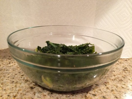 seven cups of kale, after