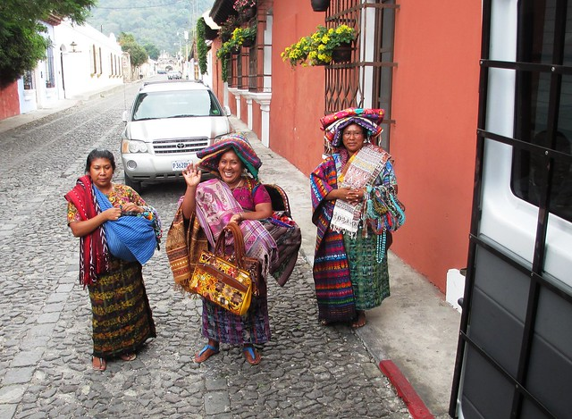 Clara (Center) Waves Goodbye, Antigua, Guatemala, May 2014