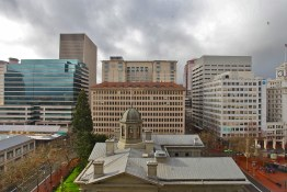 View of Downtown Portland from The Nines