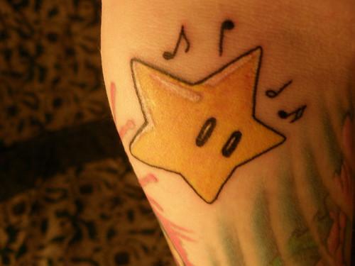 Nintendo Invincibility Star Tattoo