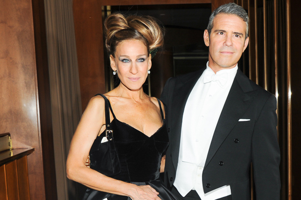 Sarah Jessica Parker and Andy Cohen