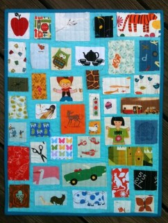 I-Spy Ticker Tape Quilt for QLD Flood Appeal Auction