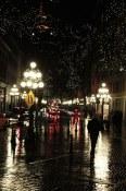 Gastown all a-glitter after the rain