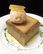 Ginger Cake Sungold tomato sorbet, vanilla ice cream from West