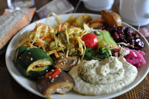 Delicious vegetarian plate at Hermans - Stockholm