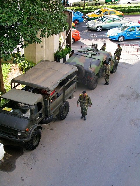 Soldiers and Armored Vehicles