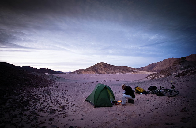 Lonely desert camp in the Sinai