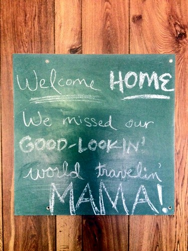 Welcome home message