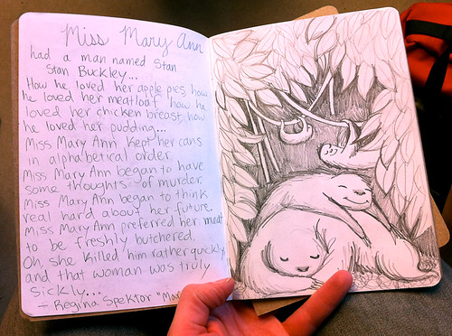 A visit to the 2012 Sketchbook Project show in Vancouver-3