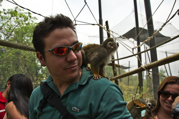 Gabriel Saldana and the friendly monkey