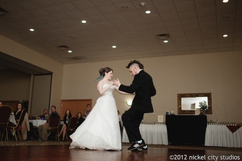 """Guess What? I Love You!"" by Zombina and the Skeletones as the first dance"