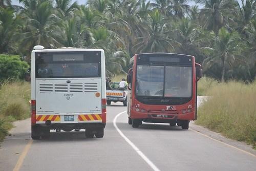 Inauguração dos dois autocarros da EMTPQ