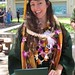 Global environmental science graduate Christina Johnson at the University of Hawaii at Manoa commencement ceremony. May 11, 2013.