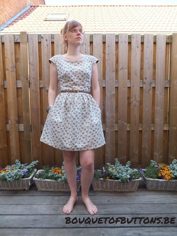 Elisabeth Gathered wiast dress