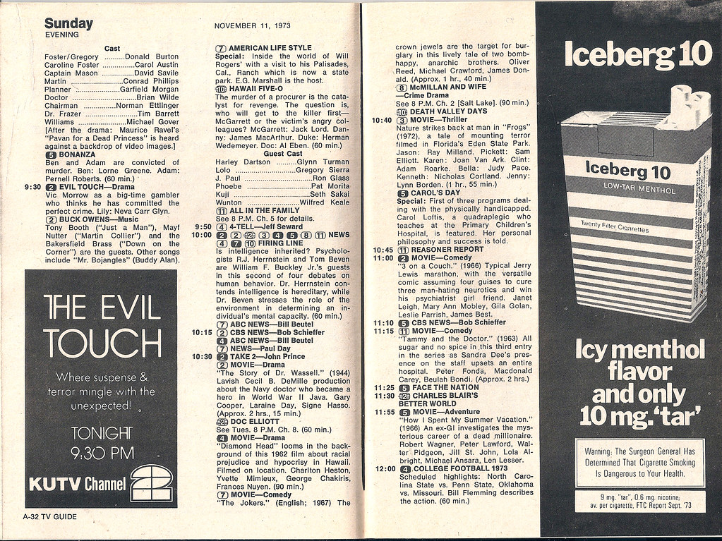 Retrospace  TV Guide  6 November 10 16  1973 I find it a little odd that there s a big advertisement for a Lizzie Borden  book in this week s TV Guide  don t you