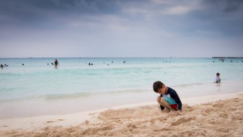 Colin on the beach