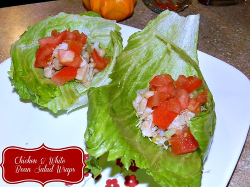 Chicken & White Bean Salad Wraps (4)