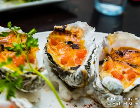 Grilled oysters with miso cream sauce Jazushi