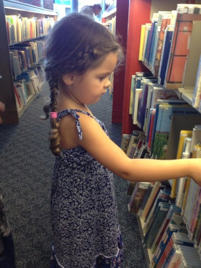 picking out books
