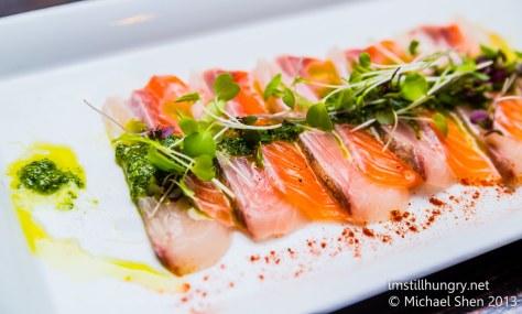 Salmon & kingfish carpaccio