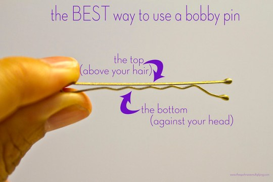 the BEST way to use a bobby pin