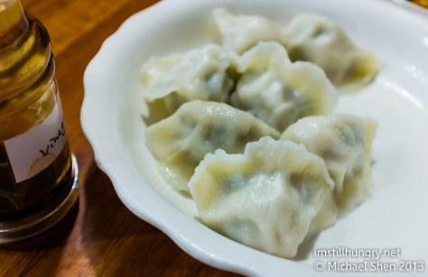 Poached pork & chive dumplings (12 pieces) Taste of Shanghai