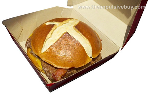 Wendy's Pretzel Bacon Cheeseburger