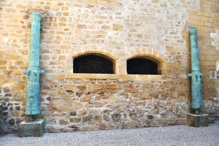 Cannons at Chateau de l'Emperi in Salon-de-Provence, France, Sept. 2013