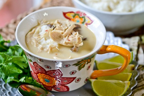 Thai Coconut Chicken Soup-13