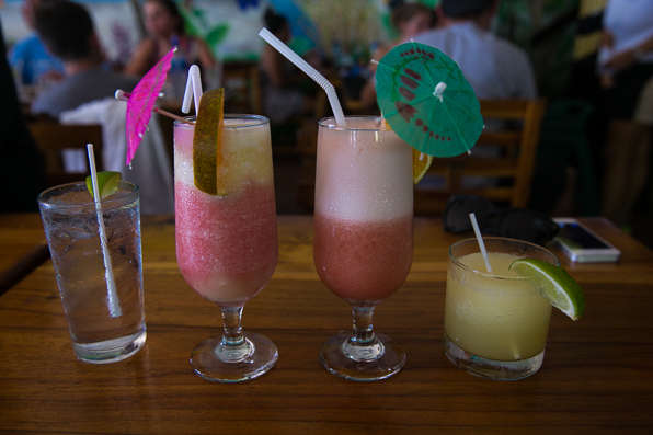 Afternoon alcoholic cocktails at Marlin restaurant, Manuel Antonio