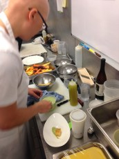 25 chef wattanabe plating his demo plate for pre shift