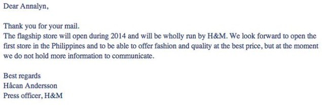 h&m email