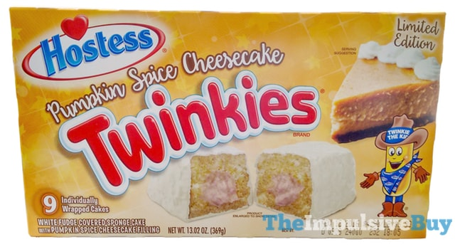 Hostess Limited Edition Pumpkin Spice Cheesecake Twinkies