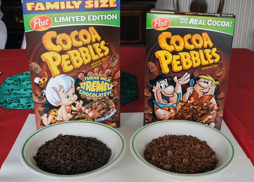 Limited Edition Post Xtreme Cocoa Pebbles Comparison