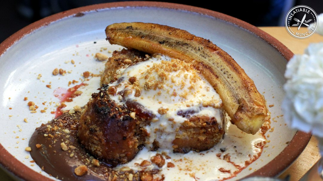 The Little Lost Bread: Peanut butter and jam french toast, with a scoop of peanut butter ice cream and Nutella