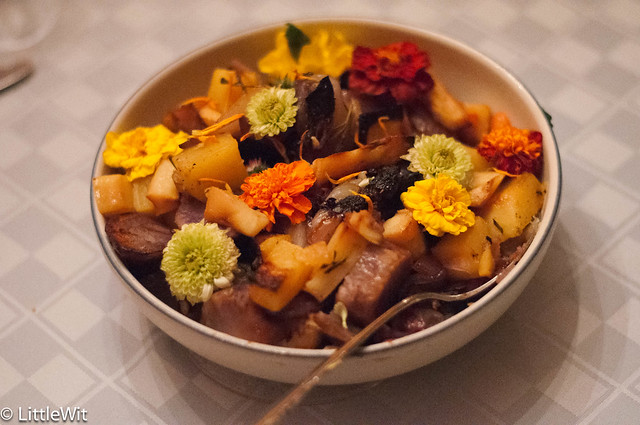 Root Veggies with Edible flowers