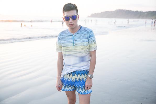 Bryanboy at Playa Manuel Antonio, Costa Rica
