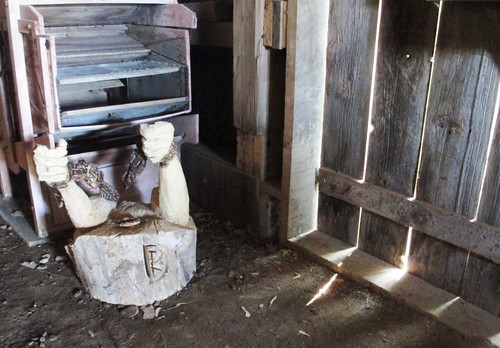 Sculpture in the barn at the Buxton Settlement National Historic Site.