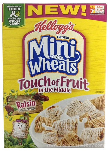 Kellogg's Frosted Mini-Wheats Touch of Fruit in the Middle Raisin