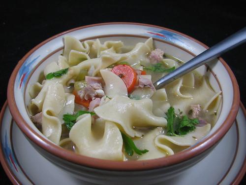 Smoked Turkey Noodle Soup