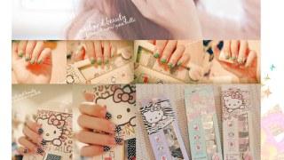 [指彩] 指尖的浪漫。Love Nail x KITTY 尖叫可愛的指甲油貼