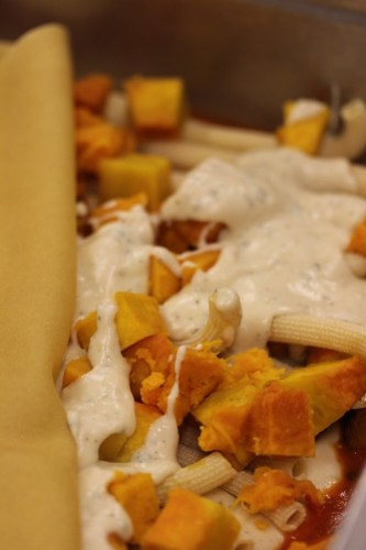 Baked Pasta With Sage Bechamel and Roasted Winter Squash