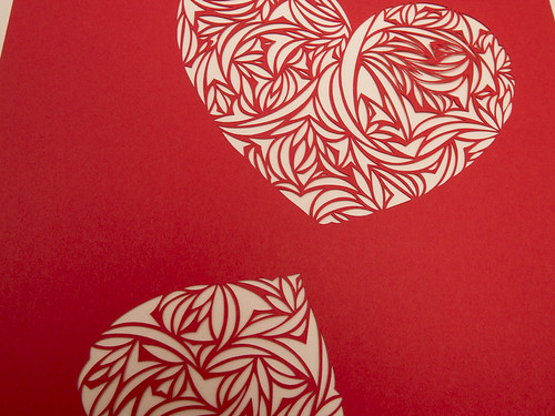 Heart paper cut work-7